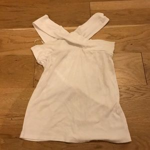 Free People Criss Cross White Top